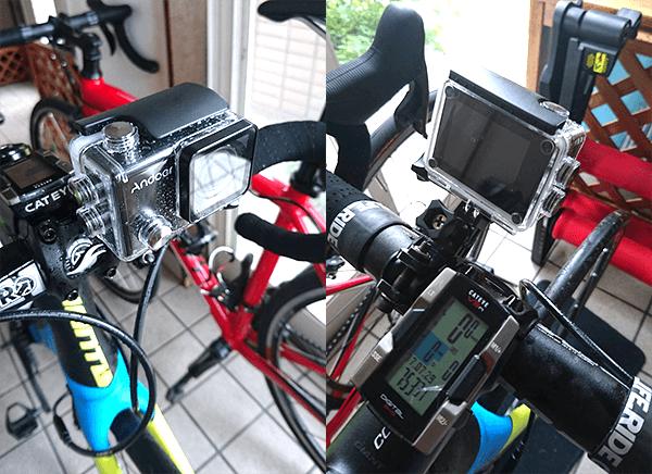 ロードバイクへのアクションカム取り付け方法