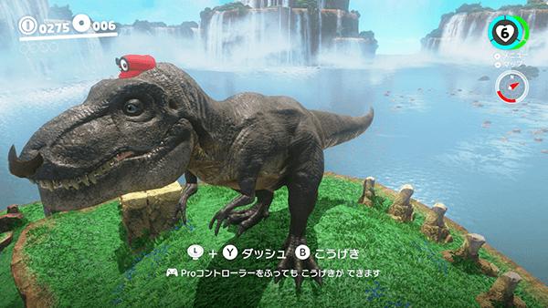 ティラノサウルスをキャプチャー