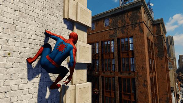 スパイダーマン_壁への張り付き