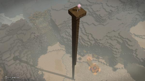 前作と比較してものすごい高さまでブロックが積めます