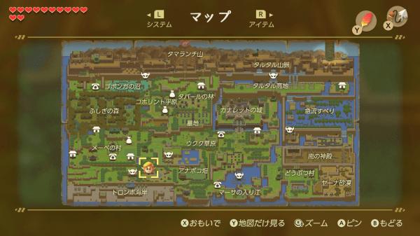フィールド全体がひとつのマップになっている