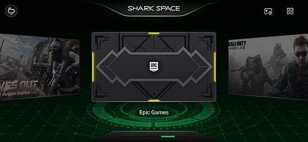 ゲームに没頭できる「SHARK SPACE」モード