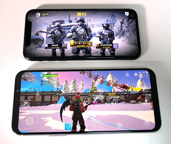 上がiPhone XS(5.8インチ)、下がBlack Shark2(6.39インチ)