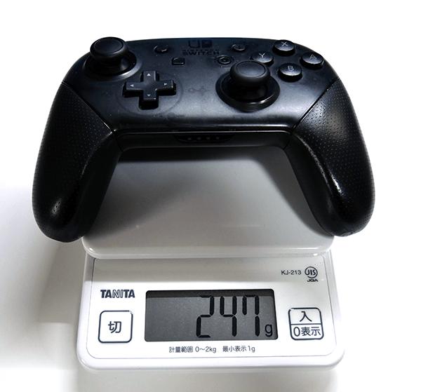 純正プロコンの重さは247グラム