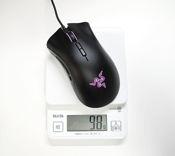マウスの重さは98g