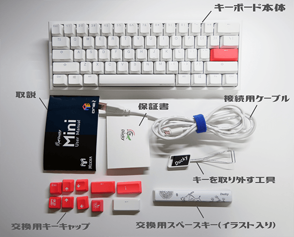 Ducky ONE 2 Miniの同梱物