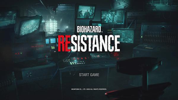 バイオハザードRe3(レジスタンス)スタート画面
