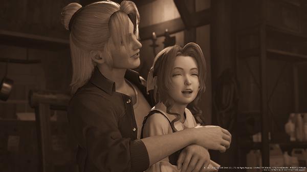 幼少期の「エアリス」と育ての親「エルミナ」
