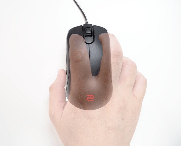 ZOWIE S1_つかみ持ち(上面)