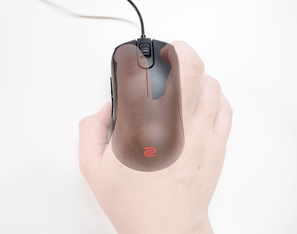 ZOWIE S2_つかみ持ち(上面)