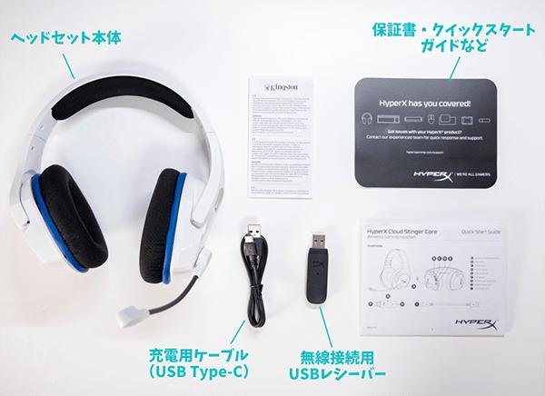Cloud Stinger Core Wirelessの同梱物