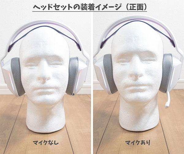 ヘッドセットの装着イメージ(正面)