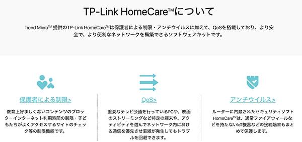 TP-Link HomeCareについて
