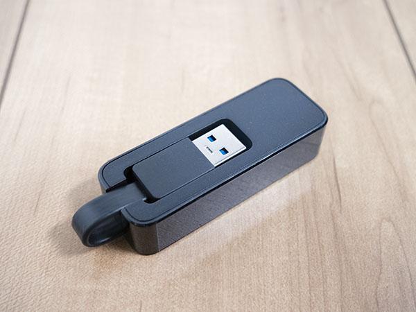 USBケーブルは収納可能