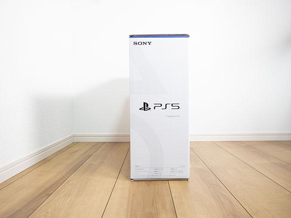 PS5の外箱(左側面)